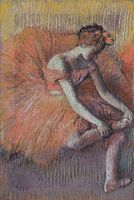Edgar Degas - Danseuse rajustant sa sandale 1896 - Edgar Degas - Wikipedia