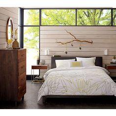 alpine gunmetal bed from cb2 bedroom furniture cb2