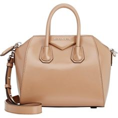 Givenchy Antigona Mini-Duffel (2,435 CAD) ❤ liked on Polyvore featuring bags, luggage and colorless