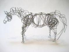 wire sculpture - horse