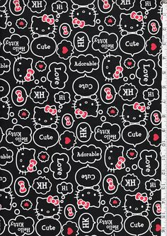 Japanese Asian Quilting Sewing Fabric Hello por Shiboridragon