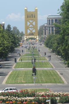 Tower Bridge and Capitol Avenue -- Sacramento CA …