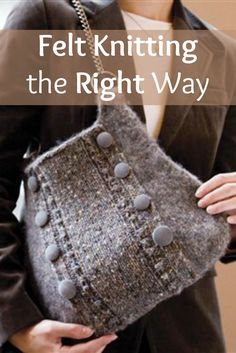 Felt making creates dense, sturdy and flexible fabric, and these 6 FREE felted knitting patterns are packed with style and enjoyment for the maker and the wearer! #knitting #felting #DIY