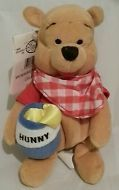 "DISNEY Store Summer Picnic Honey Pot POOH 7"" Mini Plush Retired MINT"