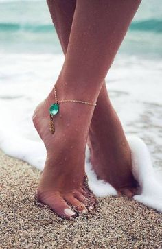 gemstone ankle chain