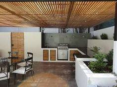 Risultati immagini per quinchos modernos Covered Back Patio, Back Porches, Outdoor Living, Outdoor Decor, Mid Century House, Pergola, New Homes, Outdoor Structures, Design