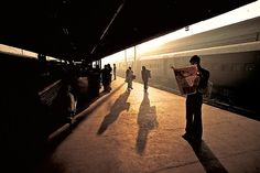 Steve McCurry, Train Platform at Old Delhi, India, 1983, C-type print on Fuji Crystal Archive paper