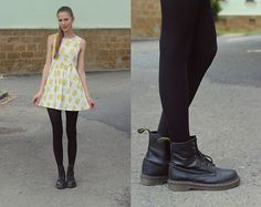 Romwe Dress, Dr. Martens Boots