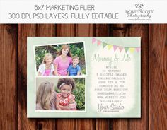 Mommy and Me Mini Session Photography Marketing by DovieScottPhoto, $5.99 #mothersday #mommy&me