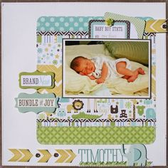 Timothy Layout from Bundle of Joy Boy Collection. #echoparkpaper