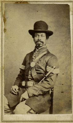 "Corp. Henry Gaither. ""One of the few free men of color in this book when the war began, Gaither and his regiment, the 39th U.S. Colored Infantry, fought as hard as any white organization in the Union army,"" writes Coddington. ""This is one of my favorite images in the book.""  From African American Faces of the Civil War by Ron Coddington"