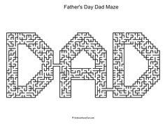 Fathers Day Dad Maze