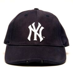 MLB New York Yankees Dual LED Headlight Adjustable Hat by Lightwear. $20.17. Ideal Sports Fan Gift. Comfortable, durable 100 Percent cotton fabric with high quality raised embroidery logo; Team graphics on velcro closure. Officially Licensed by MLB. Batteries Included Free. Powerful LEDs provide ultra-bright light. 100% cotton. The ultimate hands-Free flashlight. This stylish, useful cap provides just the right amount of light exactly where you're looking, leav...