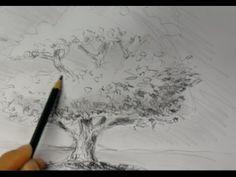 ganz einfach zeichnen lernen 2: Baum - YouTube