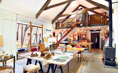 Ken Sprague artist studio.