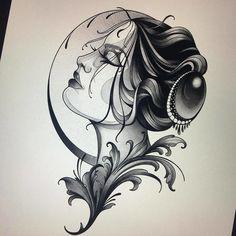 Neo Tattoo, Tattoo Style, Gothic Tattoo, Dark Tattoo, Tattoo Flash, Tattoo Ink, Neo Traditional Art, Traditional Tattoo Design, Traditional Tattoos
