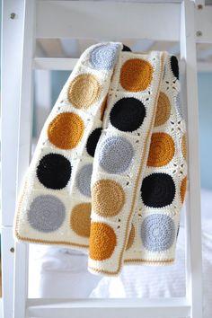 Handmade Crochet Baby Blanket Modern Granny Square by BunchLiving