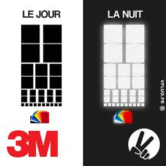Stickers 3M™ - SQUARE 2 - décoration casque rétro réfléchissante
