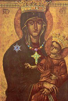 """Maria """"Salvarea Poporului Roman"""" încoronată. /-/-/ The crowned Virgin """"Salus Populi Romani."""""""