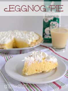 Eggnog cream pie, THIS is the recipe we did last year.  The different flavored eggnog done by Hood makes this outstanding!  Especially their sugar cookie one.
