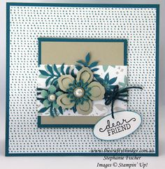 Stampin Up, #thecraftythinker, Botanical Builder, Blooms & Wishes