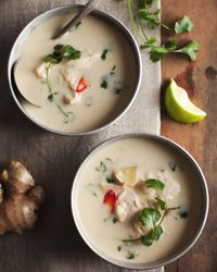 Thai Chicken and Coconut Soup Recipe on Food & Wine