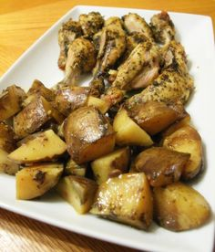 Slow cooker Greek style Chicken and Potatoes - I'd use breasts not legs because we don't like dark meat but it sounds delicious