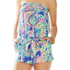 NWT Lilly Pulitzer ritz romper toucan play large NWT Lilly Pulitzer Lilly Pulitzer Pants Jumpsuits & Rompers