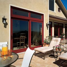 Marvin Windows and Doors Photo Gallery -french sliding door, 4' each, 8' width total