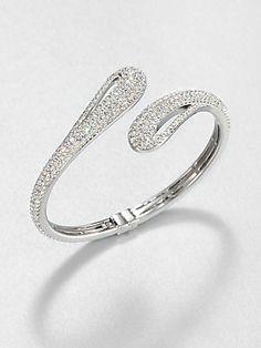 Indian style - Adriana Orsini Pavé Crystal Open Teardop Bangle Bracelet - crystals on brass £125