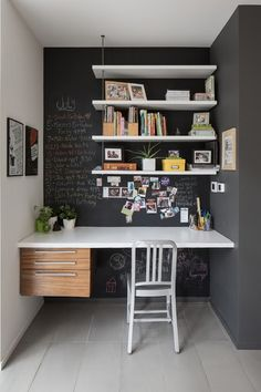 10 budget office ideas. Utilize and personalize your work space with chalk paint, vintage furniture, peg boards and mood boards.