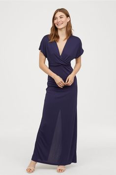 ce4f4d13acf Long Draped Dress - Dark blue - Ladies