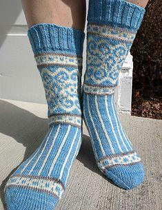 """Believe"" is the Sock Knitters Anonymous January 2016 Mystery Sock (MOCK)"