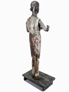 Early Articulated Santos Figure | From a unique collection of antique and modern sculptures and carvings at http://www.1stdibs.com/furniture/folk-art/sculptures-carvings/