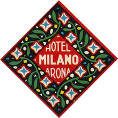 hotel milano milan arona italy Vintage Graphic Design, Graphic Design Layouts, Graphic Design Posters, Graphic Design Typography, Lettering Design, Graphic Design Illustration, Typography Logo, Layout Design, Vintage Typography