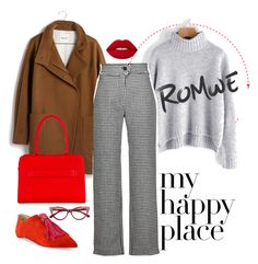"""McGuire"" by chelsofly ❤ liked on Polyvore featuring Madewell, J.W. Anderson, Christian Louboutin, Esin Akan, Lime Crime, red, Sweater, romwe and contestentry"