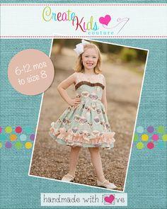 Create Kids Couture - Celeste's Classic Boat Neck Dress and Top PDF Pattern, $8.00 (http://createkidscouture.com/celestes-girls.html)
