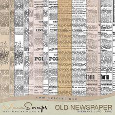 CU Old Newspaper | CU/Commercial Use #digital #scrapbook design tools at CUDigitals.com #digitalscrapbooking