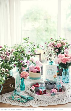 pink & turquoise tea party