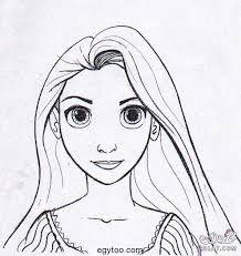 نتيجة بحث الصور عن ربانزل صور تلوين Rapunzel Teckningar