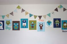 painted wall decor cheap easy.  I want to do monster inc monsters in kids room