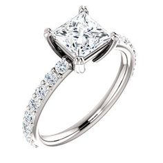 JOLIE 122188 Accented Twin Prong Engagement Ring #everandeverbridal
