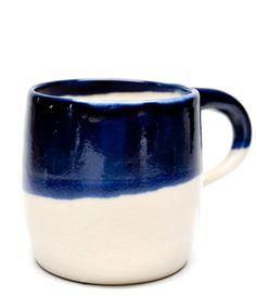 Indigo Dipped Mug. Pretty with my new plates.