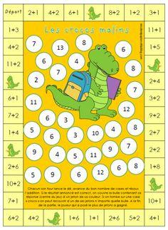 Math - (page - nicole ni papier Addition Games, Math Addition, Addition And Subtraction, 1st Grade Math, Kindergarten Math, Teaching Math, Educational Math Games, Math Activities, Education Logo