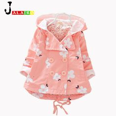 358438cbf2f2 2017 NEW Girls Coat Jacket Spring Autumn Girls Double Breasted Cardigan Infant  baby kids Lace Coat Children Outwear Coats-in Jackets   Coats from Mother  ...