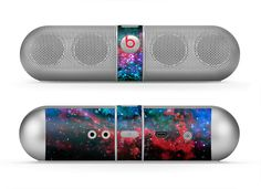 The Neon Colored Paint Universe Skin for the Beats by Dre Pill Bluetooth Speaker from Design Skinz, INC.