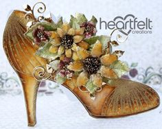 Heartfelt Creations | Golden Sunflower Shoe