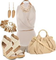 """""""Beige"""" by johnna-cameron on Polyvore"""