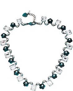 PATINA FLOWER NECKLACE BLUE. Mother of the groom