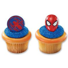 Spiderman Mask And Spider Cupcake Rings - 24 Ct, 2015 Amazon Top Rated Cupcake Toppers #Kitchen